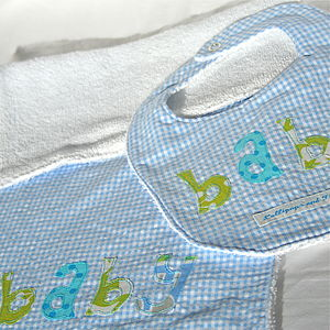 Personalised Bib And Burpcloth Set - baby care