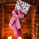 Candy Stripe Bow Stocking