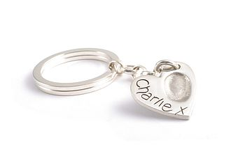 Heart named keyring