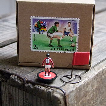Personalised Original Vintage Miniature Football Player