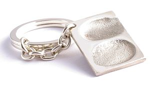 Double FingerPrint Keyring - metal keyrings