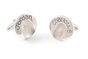 Circle FingerPrint Cufflinks - men's jewellery