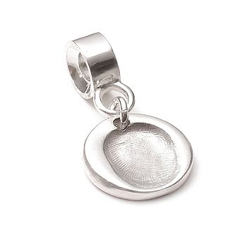 Small Fingerprint Charm With Carrier