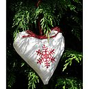 christmas heart vintage french linen