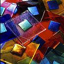 Handmade Iridescent Glass Tile
