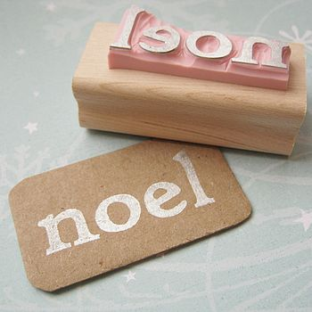 'Noel' Hand Carved Rubber Stamp