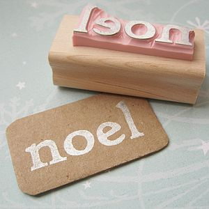 'Noel' Hand Carved Rubber Stamp - cards & wrap