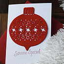 Someone Special Bauble Christmas Card