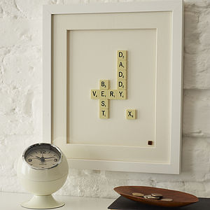 'Very Best Daddy' Scrabble Art