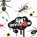 Soldier ants wall stickers detail
