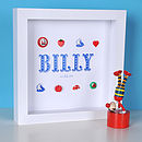 Personalised Baby Boy Name Artwork