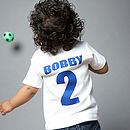 Kids / Baby Personalised Football T Shirt
