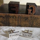 Large Personalised Rectangle Cufflinks
