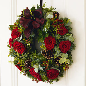 Roses And Herbs Wreath - outdoor decorations