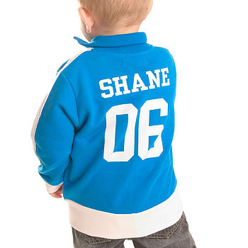 Children's Personalised Track Suit Top