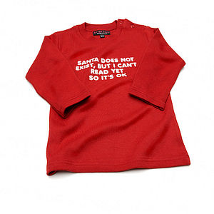 'Santa Does Not Exist, But I Can't Read Yet So It's Ok' T Shirt