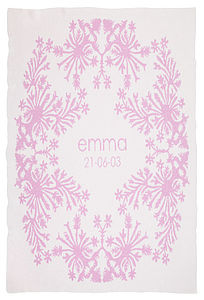 Personalised Cashmere Baby Hula Blanket - bedding & accessories