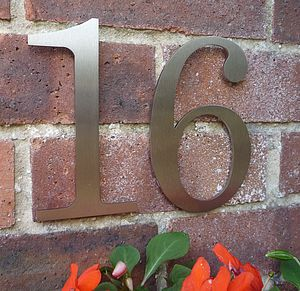 Contemporary Century Stainless Steel House Number - art & decorations