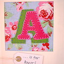 Personalised embroidered felt initial