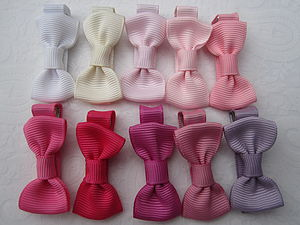 Mini Bow Hair Clip Pairs - hair accessories
