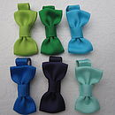 Top L-R - Apple, Emerald, Turquoise, Bottom L-R Royal Blue, Ink Blue, Aqua