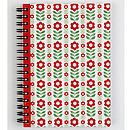 Retro Folk Flower Stripe Notebook
