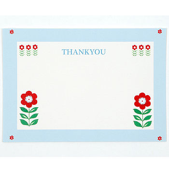Retro Folk Flower Thank You Pack