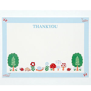 Woodland Scene Thank You Pack