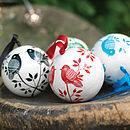 Hand Painted Bird Baubles