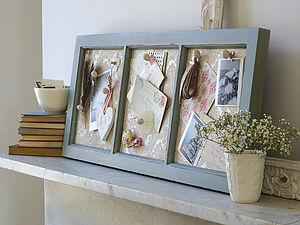 Antiqued Wooden Memo Board - storage & organisers