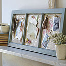 Antiqued Wooden Memo Board