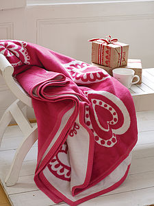 Hearts Blanket - wedding gifts