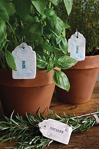Ceramic Herb And Vegetable Labels - garden