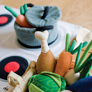 Fair Trade Soft Toy Cooking Play Set - pretend play & dressing up