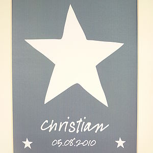 Personalised Christening Artwork