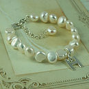 Personalised Girl's Pearl Bracelet