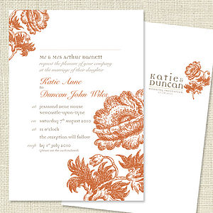 Wedding Stationery Sample Order - invitations