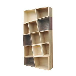 Wooden Puzzle Bookcase - shelves