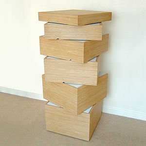 Wooden Rotation Chest Of Drawers - furniture