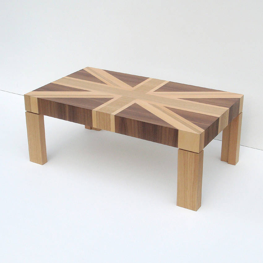 Wooden Union Jack Table