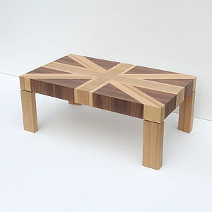 Wooden Union Jack Table - living room