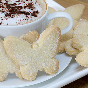 Butterfly Shortbread - tea for two