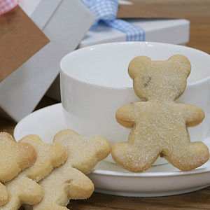 New Baby Biscuit Teddy Shortbread