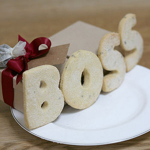 Christmas Biscuit Words Shortbread - cakes & sweet treats