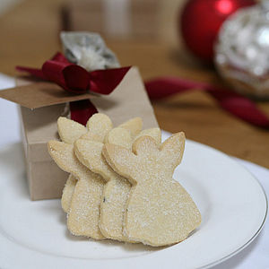 Biscuit Box Of Christmas Angel Shortbread - cakes & sweet treats