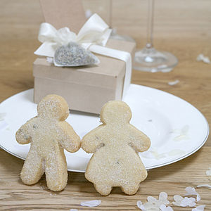Biscuit Wedding Shortbread People - edible favours