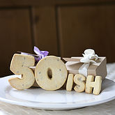 Birthday Number 'Ish' Shortbread Biscuits - chocolates & confectionery