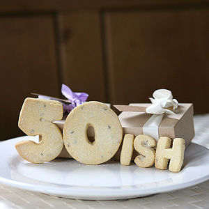 Birthday Number 'Ish' Shortbread Biscuits - 50th birthday gifts