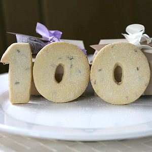 Birthday Number Shortbread Biscuits - cakes & sweet treats
