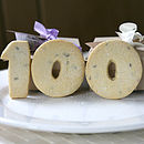 Birthday Number Shortbread Biscuits